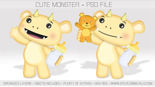FREE MONSTER CHARACTER by WokDesign