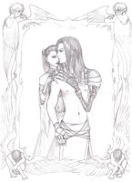 Hades and Persephone by porcelianDoll
