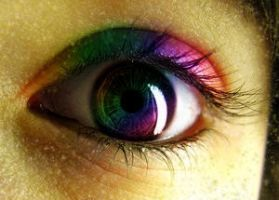 Rainbow Eye. by Sanciaaa