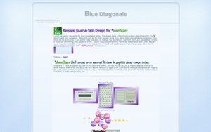 Blue Diagonal Request by GillianIvy