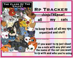 ( TcotV ) All My Cats Rp Tracker by TheClansOf-TheValley