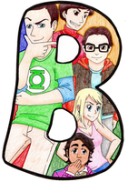 B - Big Bang Theory by Poefish