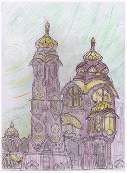 Buildings sketch by Arianod