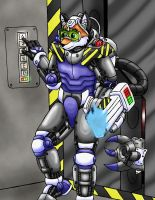Fox in mech armour -finished- by s0lar1x
