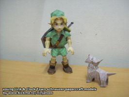 dog+Link papercraft models by ninjatoespapercraft