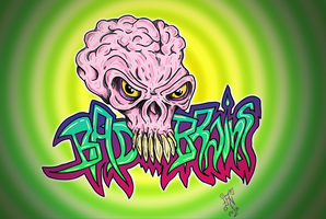 BAD BRAINS skull graffiti by nikolass by nikolass83gianni