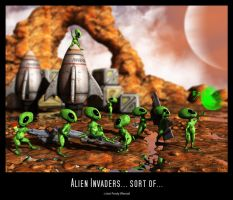 Alien Invaders... sort of... by Fredy3D