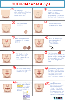Tutorial: Nose and Lips (PTS) by x-Tsuka-x