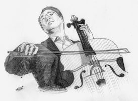 Yo-Yo Ma by JTIllustrations