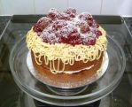 Spaghetti and Meatballs Cake by Rebeckington