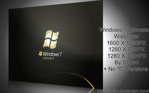 Windows 7 Ultimate E Wallpaper by St-Jim