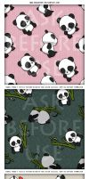 KAWAIIPANDA textil pattern 3D by RosaKiddy