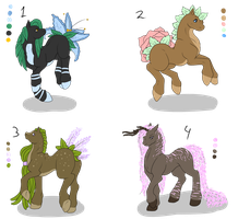 Pastel Flower Pony Adopts by ShadowInkAdopts