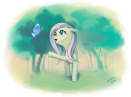 Beautiful Fluttershy by dawkinsia