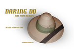 MLP - Daring Do's Hat Papercraft by RocketmanTan