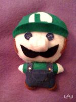 Chibi Plushies: Luigi by Red-Flare