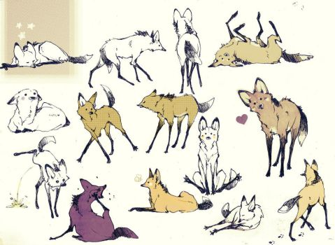 A lot of Maned Wolf by Loputyn
