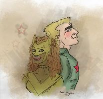 Red Star and Pantha by Teq-Uila