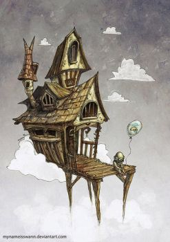 A house in the clouds by AsyaYordanova