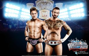 WrestleMania XXVIII Chris Jericho vs CM Punk by Mr-Enjoy