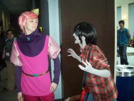 Prince Gumball and Marshall Lee by cuteasianprincess