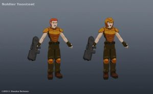 Female Soldier Toontest by hauke3000