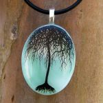 Jade Willow Fused Glass by FusedElegance