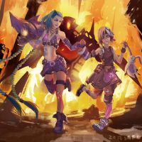 Tiny Tina and Jinx by sgfw