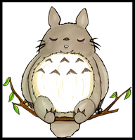 Sleeping Totoro by Captain-Puppybutt