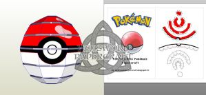 Pokemon Mini Pokeball Preview by HellswordPapercraft