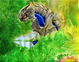 Halo Watercolor- In The Wait by Kitty-grim-Reaper
