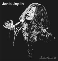 Janis Joplin vector SAMPLE by justin33k