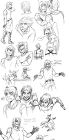 RAID: Alex and Law sketchdump by ReincarnatedParano
