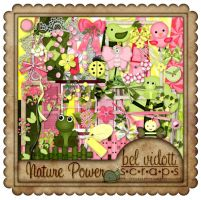 Scrapbooking Green and pink v12 by rakanksa