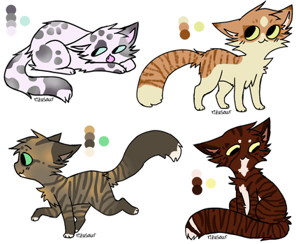 CLOSED Realistic Cat Adopts 6 by StarphishyAdopts