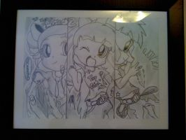 My old drawn PPGZ poster by Sweetmellow