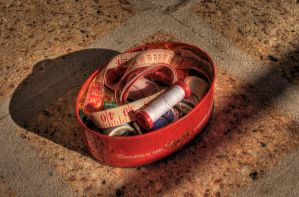 box of sewing - HDR by yoctox