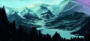 Winter over a Vast Land by WaterSpectrum