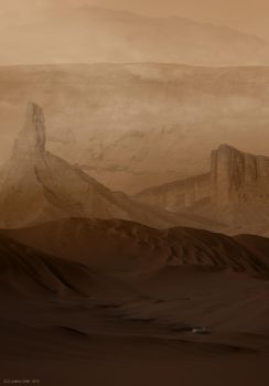 Down in Noctis Labyrinthus by Ludo38