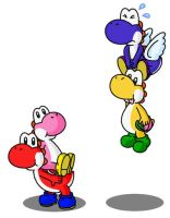 Yoshis 1 by minimariodrawer