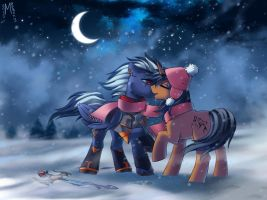Cold night by Margony