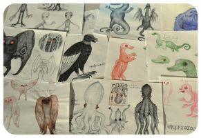 Cryptids - study drawings by V-L-A-D-I-M-I-R