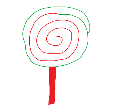 Drawing of a Lollipop by PIZZAPIE97