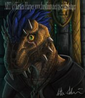 A lizard and his eye by Tidma
