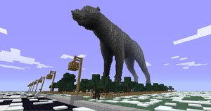 Giant minecraft wolf by Draknar1995