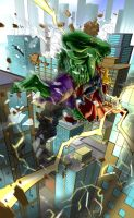 Hulk Vs Thor Final Colors by pureluck13