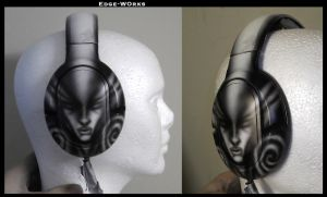 Headphones - First attempt at airbrushing by Edge-Works