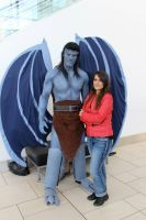Goliath and Elisa Cosplay from Gargoyles at DCC by PhoenixForce85
