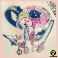 Sweet Charms Necklaces by RockacocaStudio
