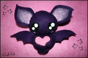 Cute violet bat plush by o-YuRiko-o